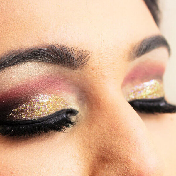 Beautiful Eye Makeup on a Bride.