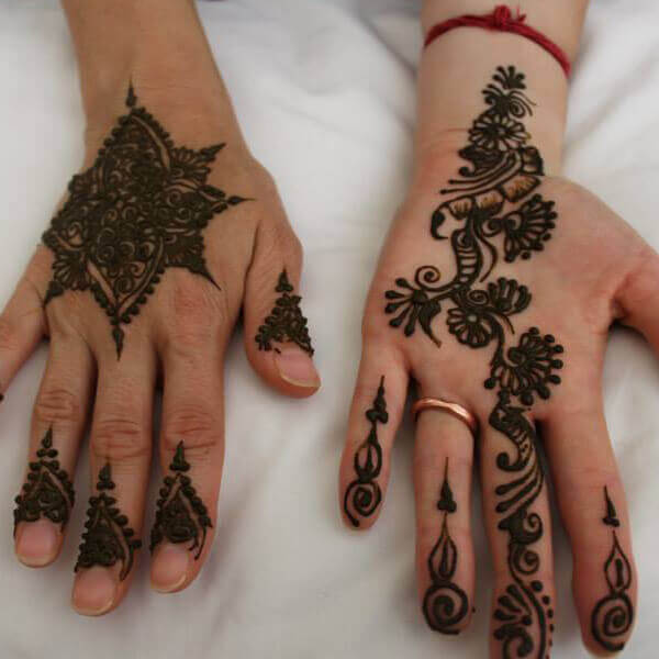 Beautiful Henna Application on a Bride.